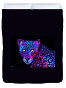 Colorful Jaguar Duvet Cover