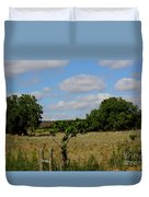Colorful Kansas Country Pasture Duvet Cover