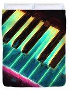 Colorful Keys Duvet Cover