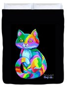 Colorful Kitten Duvet Cover