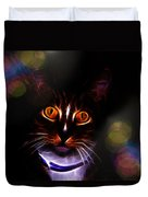 Colorful Kitty Duvet Cover