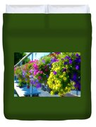 Colorful Large Hanging Flower Plants 1 Duvet Cover