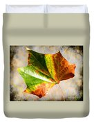 Colorful Leaf On The Ground Duvet Cover