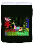 Colorful Lucy Goosey Duvet Cover