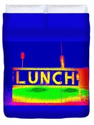 Colorful Lunch Duvet Cover