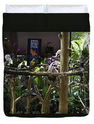 Colorful Macaw And Other Birds At The Jurong Bird Park In Singapore Duvet Cover