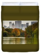 Colorful Magic In Central Park New York City Skyline Duvet Cover
