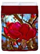 Colorful Magnolia Blossom Duvet Cover