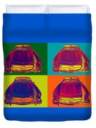 Colorful Mercedes Benz 300 Sl Convertible Popart Duvet Cover