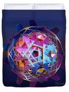 Colorful Metallic Orb Duvet Cover