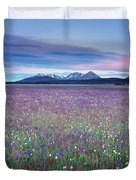 Colorful Mountain Spring Duvet Cover