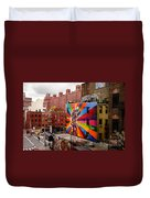 Colorful Mural Chelsea New York City Duvet Cover