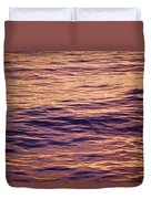 Colorful Ocean Water At Sunset Duvet Cover
