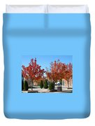 Colorful Ohio Trees Duvet Cover
