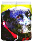 Colorful Old Dog Duvet Cover