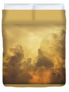 Colorful Orange Yellow Storm Clouds At Sunset  Duvet Cover