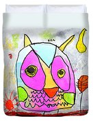 colorful Owl Duvet Cover
