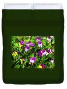 Colorful Pansies Duvet Cover