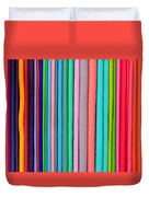 Colorful Pashminas Duvet Cover