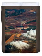 Colorful Patchwork Of Andalusian Fields 1. Spain Duvet Cover