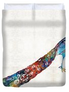 Colorful Peacock Art By Sharon Cummings Duvet Cover