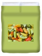 Colorful Peppers Duvet Cover