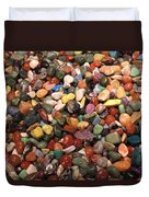 Colorful Polished Stones Duvet Cover
