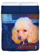 Colorful Poodle Duvet Cover