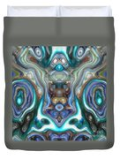 Colorful Reflections Of Glass Duvet Cover