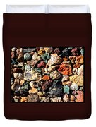Colorful Rock Wall With Border Duvet Cover