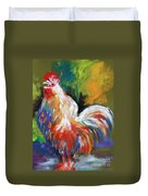 Colorful Rooster Duvet Cover