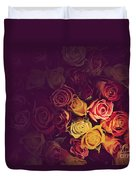 Colorful Roses Background Duvet Cover