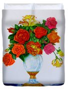 Colorful Roses Duvet Cover by Zina Stromberg