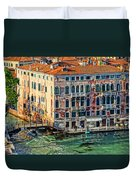 Colorful Rotten Palace In Venice Italy  Duvet Cover
