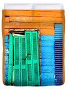 Colorful Slum Duvet Cover