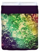 Colorful Splashing Pouring Water With Bubbles Duvet Cover