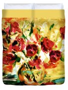 Colorful Spring Bouquet - Abstract  Duvet Cover