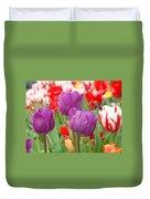 Colorful Spring Tulips Garden Art Prints Duvet Cover
