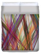 Colorful Straight Line Fractal Flame Duvet Cover