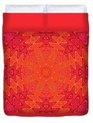 Colorful Sun Mandala Duvet Cover