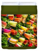 Colorful Swiss Chard Duvet Cover