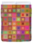 Colorful Textured Squares Duvet Cover