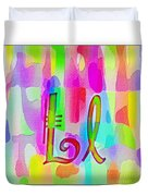 Colorful Texturized Alphabet Ll Duvet Cover