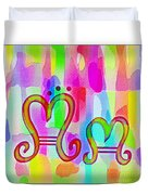 Colorful Texturized Alphabet Mm Duvet Cover