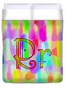 Colorful Texturized Alphabet Rr Duvet Cover