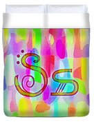 Colorful Texturized Alphabet Ss Duvet Cover