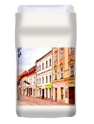 Colorful Town Homes Duvet Cover