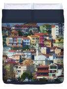 Colorful Town Duvet Cover