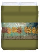 Colorful Trees Duvet Cover