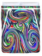 Colorful Twirl Wave Shield Design Background Designs  And Color Tones N Color Shades Available For D Duvet Cover